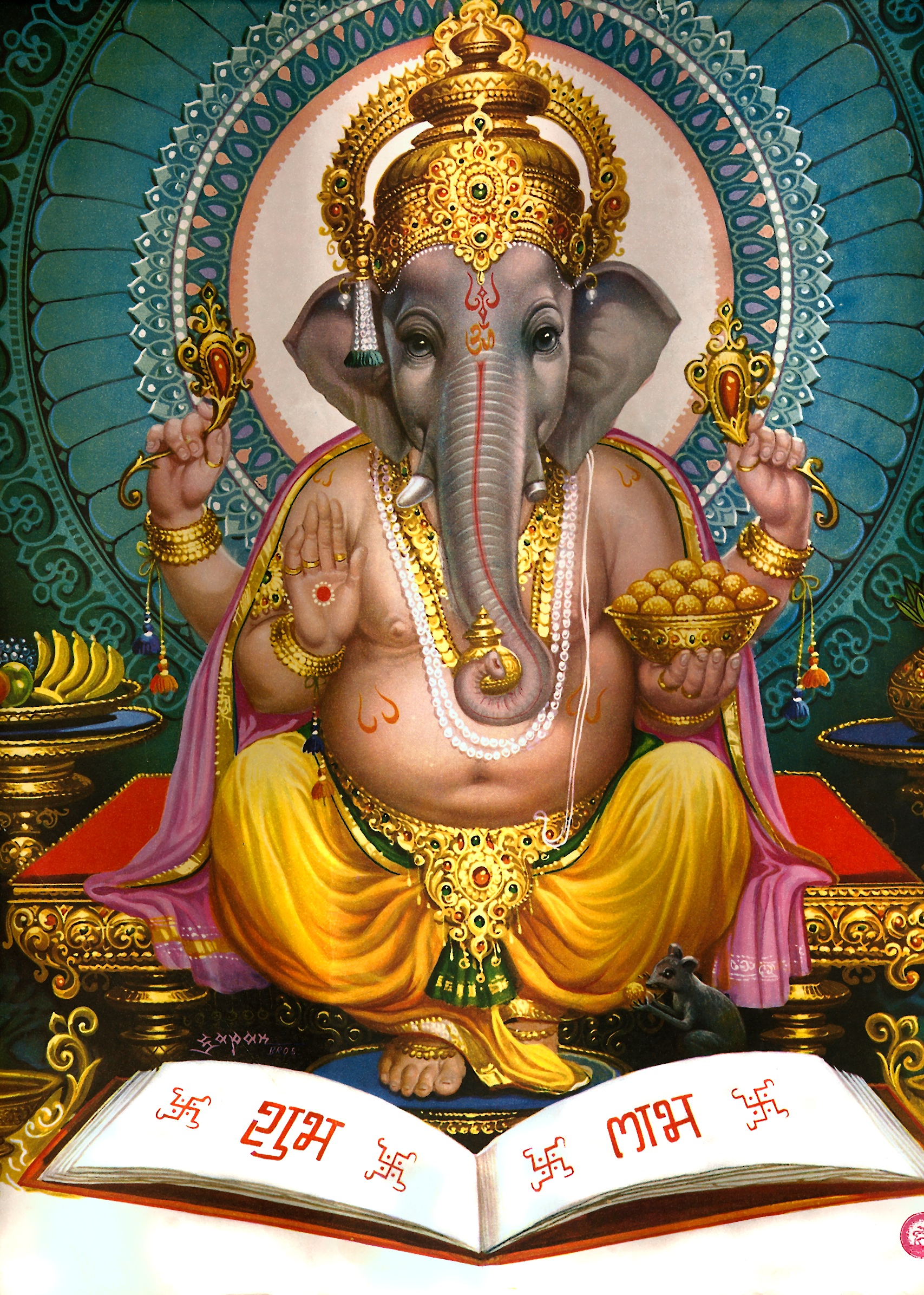 hindus celebrate the festival of ganesh chaturti where lord ganesh